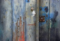 Old door great colored background