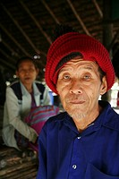 Portrait of an elderly man in Mae Sot refugee camp  Around 130,000 Burmese refugees have settled in Thailand due to opression in their homeland of Mya...