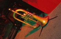 Trumpet on Stand on Stage