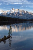 mount rundle, two jack lake, banff national park, alberta, canada