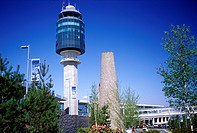 Exterior Vancouver International Airport, Control Tower, British Columbia, Canada