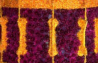 Close_up of a surface decorated with flower petals