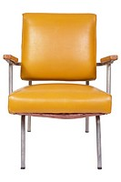 Yellow plastic chair uid 1197128