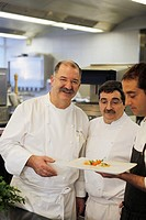 The Spanish 3 star Michelin chef Pedro Subijana in his restaurant Akelare in San Sebastian in the Basque Country, Spain