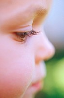 Close up of a little boys face