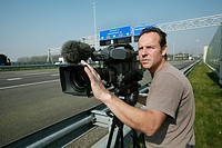camera man working for studio sport, a sport channel in the netherlands