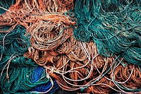 Colorful fishing nets background