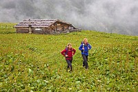 Mountain walking in the Gasteiner Alps, Hohe Tauern, Austria.