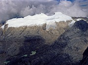Tropical glaciers on Ngga Pulu Carstensztoppen, Irian Jaya New_Guinea, Indonesia.