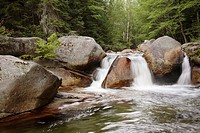Jefferson Brook during the summer months in the White Mountains, New Hampshire USA which is part of scenic New England     Notes   Jefferson Brook run...