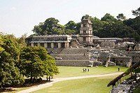The Palace, Palenque Archaeological Site, Chiapas Mexico