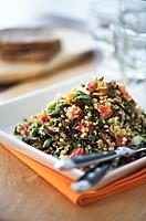 Bulgur salad with seeds and herbs