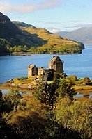 Castle of Eilean Donan. Dornie. Scotland. Great Britain.