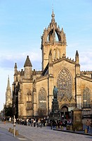 St Giles cathedral. Royal Mile. Edinburgh. Scotland. Great Britain.
