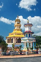 The Cao Dai Great temple in Tay Ninh City, Vietnam, Asia