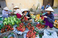 Central Market in Hoi An City, Vietnam, Asia