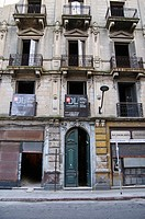 Building refurbishment in the old town of Montevideo, Uruguay