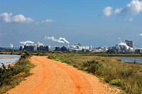 Industrial Pole of Huelva. View from the Odiel Natural Place. Huelva. Andalucia. Spain