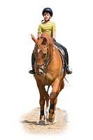 girl an a horse