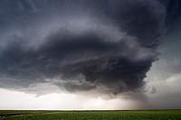 A supercellular thunderstorm near Dodge City, Kansas, USA, June 9, 2009