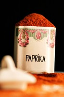 paprika powder in porcelain