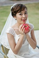 Bride and apple