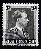 King Leopold III of Belgium 1934-1951, postage stamp, Belgium
