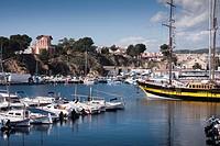 Puerto de Sant Feliu de Guíxols  España, Catalunya, provincia de Girona, Baix Empordà, Sant Feliu de Guíxols