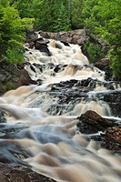 Duchesnay Falls West on the Duchesnay River in North Bay Ontario