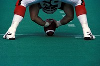 Centre Snapping Football, Ottawa Rough Riders, Canadian Football League, Ottawa, Ontario, Canada