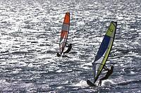 Windsurfing, Maalaea Bay, Kiei, Maui, Hawaii, United States