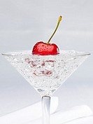 alcoholic beverage with cherry