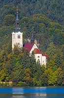 St Marys Church on Lake Bled, Slovenia