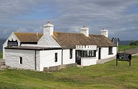 JOHN O GROATS CAITHNESS Last House whitewashed walled museum traditional building