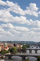 Summer Prague bridges