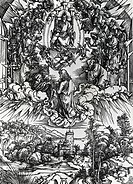 St. John Before God and Elders by Albrecht Durer, engraving, 1471_1528
