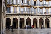 Plaza de la Constitución, Donostia (San Sebastian), Guipuzcoa, Basque Country, Spain