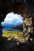 Scotland, Scottish Highlands, Strome Castle  The enigmatic ruins of Strome Castle, situated alongside Loch Carron