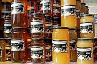 Roma honey jars and high mountain.