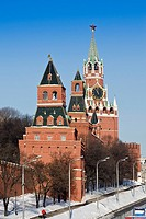 Three Moscow Kremlin towers