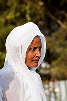 Portrait of participants and believers   Timkat cerimony of the ethiopian orthodox church in Addis Ababa  timkat or Epiphany is the biggest church cer...