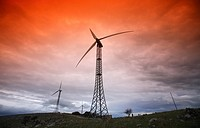 Wind turbines in Sicily, Italy