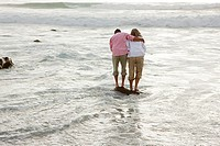 Mature couple in the sea