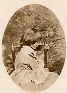Alice Liddell 1852_1934. Liddell was the inspiration for Alice in Lewis Carroll´s childrens´ book Alice´s Adventures in Wonderland. Carroll himself to...