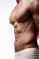Man´s muscular body