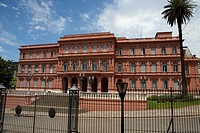 north wing and porte cochere of the casa rosada the pink house official seat of the executive branch of the government of argentina capital federal bu...