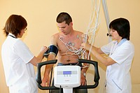 Man having ECG test
