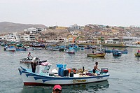 Fishing village of Pucusana, Peru