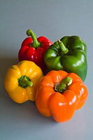 Multicoloured capsicum