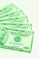 United States 50 dollar bills